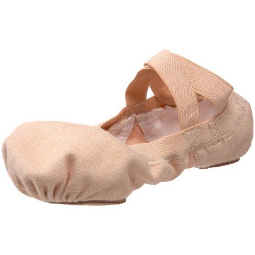 Bloch Dance Girl's Pro-Elastic Ballet Flat, Pink, 1 B US (Little Kid) (Elastic Pro)