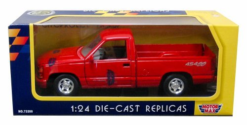 - Motormax 1992 Chevy 454 SS Pickup Truck 1/24 Scale Diecast Model Car Red