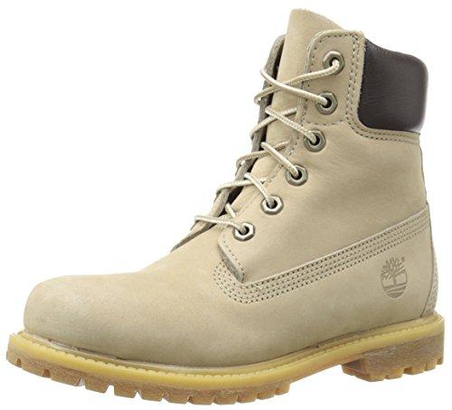 Timberland FTB_6in Premium Boot - W 10361 Damen Stiefel Off White Nubuck W Metallic Finish
