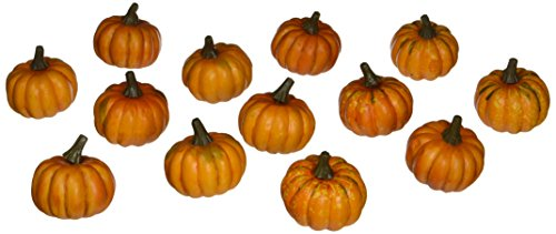 K&K Interiors 26-Piece Small Orange Pumpkins Set - ST -