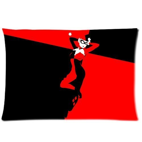 Quinn Zip (HipsterOne Harley Quinn Pillowcase (Standard20*30 inches)-Custom Zip Pillow Case Cover)