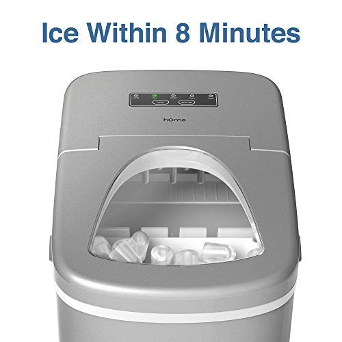 hOmeLabs Portable Ice Maker Machine for Countertop - Makes...