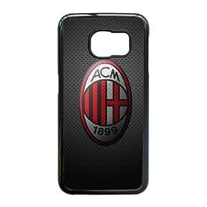 Samsung Galaxy S6 Edge Custom Cell Phone Case AC Milan FC Logo Case Cover 7WFF37995