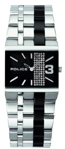 Police Women's PL-10501BS/02MC Glamour Square -X Black Dial Watch