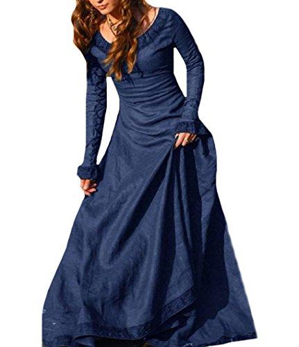 Girocollo Da donne Partito Lunghezza Coolred Lungo Pavimento Blu Elegante Evenning Vestito yIqyOH1g