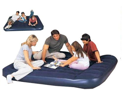 Bestway King Size Easy Inflate Flocked Air Bed with built-in foot pump by Comfort