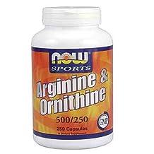 NOW L-Arginine L-Ornithine Amino Acids