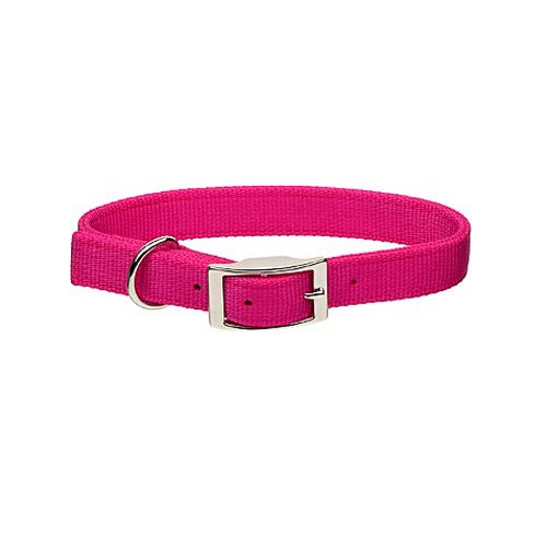 Guardian Gear Double-Layer Nylon Dog Collar, 20-Inch, Flamingo Pink
