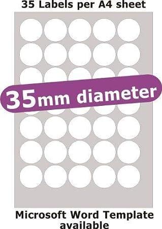 Amazon.com: Minilabel 35 mm de diámetro ronda, 175 etiquetas ...