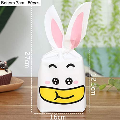 Bunni - Food Grade Cartoon Animal Banana Mouth Rabbit Ear Baking Packaging Bags Kids Party Gift Wedding - Ear Rabbit Cookie Rabbit & Candy Bags Mouth Bag Bag Hair Bouquet Candy Banana Rabbit B ()