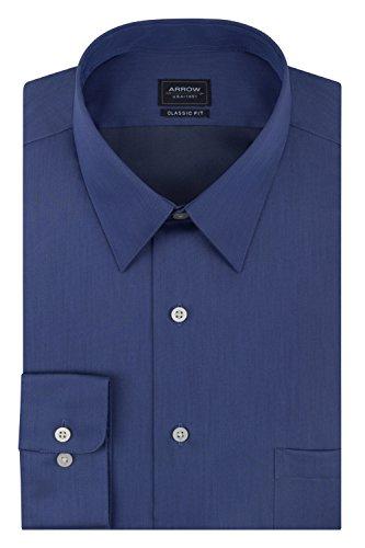 blue sateen dress shirt - 8