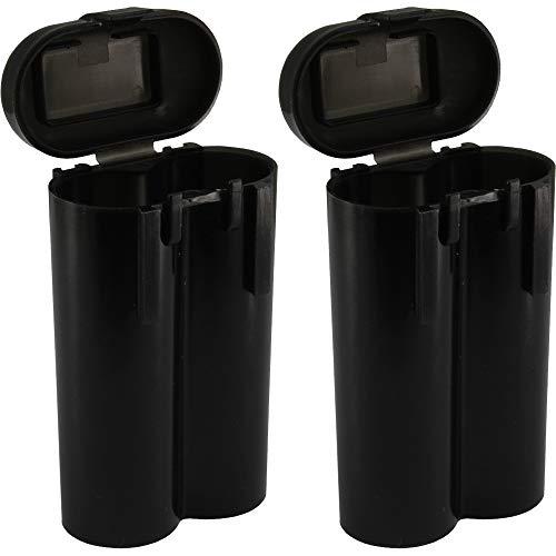2 Black 18650 & CR123A 2 Battery Holder Storage Case for 18650 Batteries