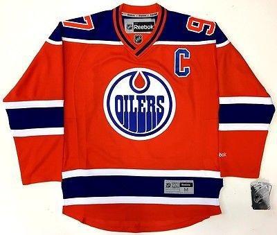 4813b2c323d Connor Mcdavid Edmonton Oilers Reebok Premier Alternate Orange Jersey New  W/