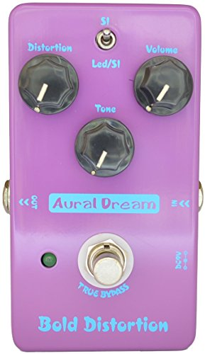 Aural Dream Bold Distortion Modern distortion High-Gain Powerful Dynamic American Rock 2 models Guitar Effects Pedal True Bypass