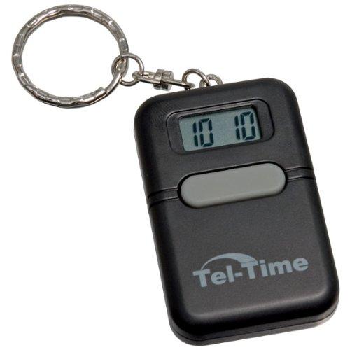 Tel-Time Talking Key Chain Square -Black