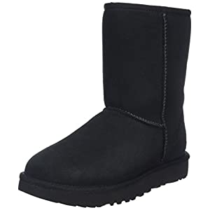 UGG Women's Classic Short II Winter Boot, Black, 10 B US