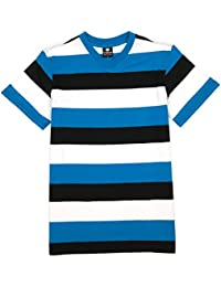 V-Neck Stripe T-Shirt - YG218 Short Sleeve V Neck Stripped Tee Shirt