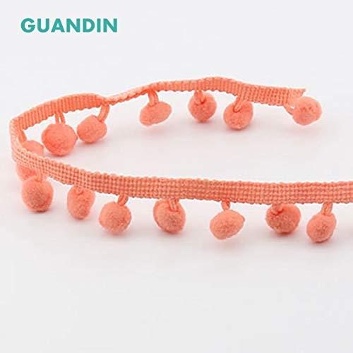 Colored Plush Ball Lace Decoration Small pom-pom Tassel Lace DIY Decorative Side Clothing Luggage Curtain Accessories Shoppy Star GUANDIN HB004-1Y