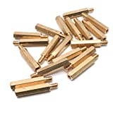 Yootop 20 Pcs Brass Hex Pillar Spacers Male to