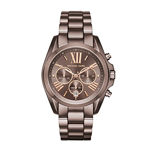 Michael Kors Womens Bradshaw Quartz Chronograph Stainless Steel Bracelet Watch,Brown-MK6247