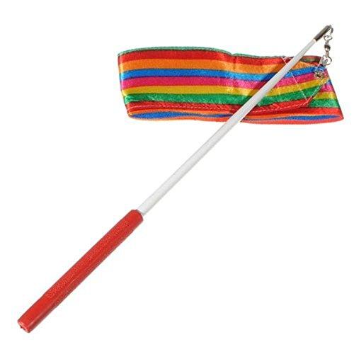 Gym Dance Ribbon Performance Dance Ribbon Rhythmic Art Gymnastic Streamer Baton Twirling for Both Adults and Kids, colorful