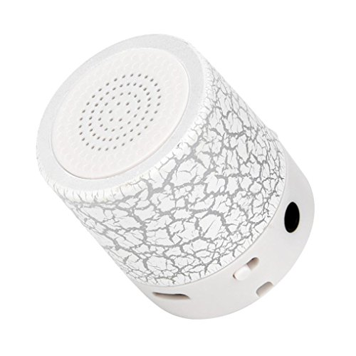LED Mini Bluetooth Speakers,Tuscom Portable Wireless HandfreeMusic Player with TF Card (White) by Tuscom (Image #3)
