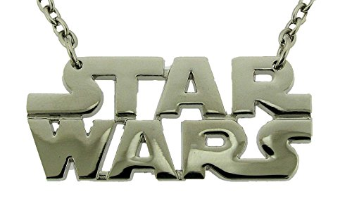 Star Wars Text Silver Metal Necklace Pendant Costume