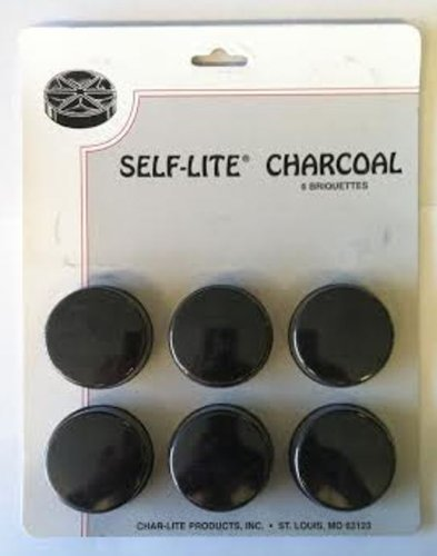Self Lite Charcoal - Pack of 6 Briquettes Char-Lite Products