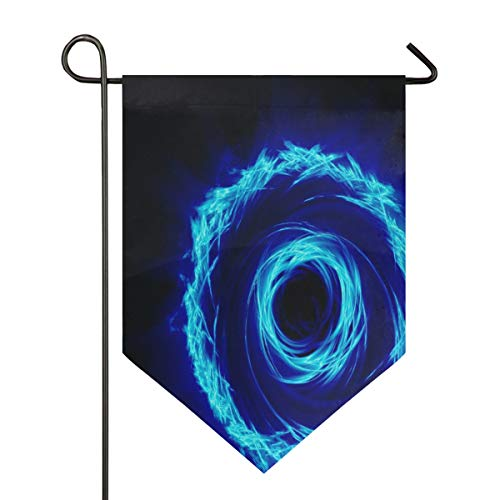 Blue Circle Garden Flag House Banner Long Polyester Decorative Flag for Wedding Party Yard Home Outdoor Decor Season Porch Lawn Double Sided 28 x 40 inches]()