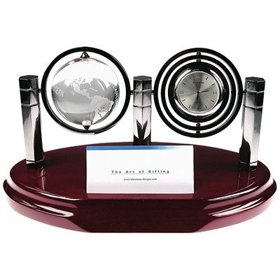 - Crystal Globe With Clock