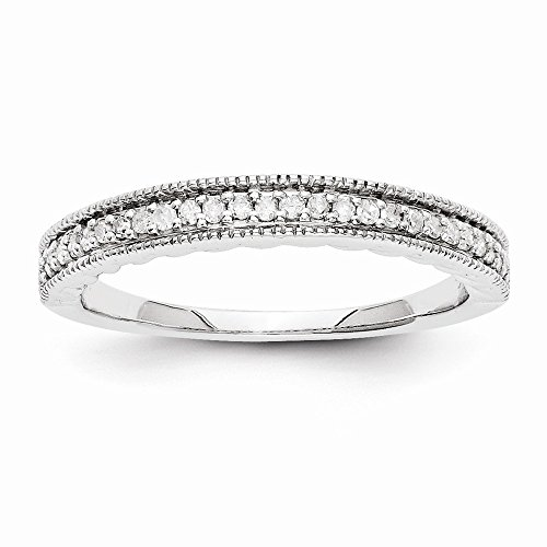 JewelrySuperMart Collection 1/8 CT 14k White Gold Round Diamond Ring. 0.143 - Lockshank Shank