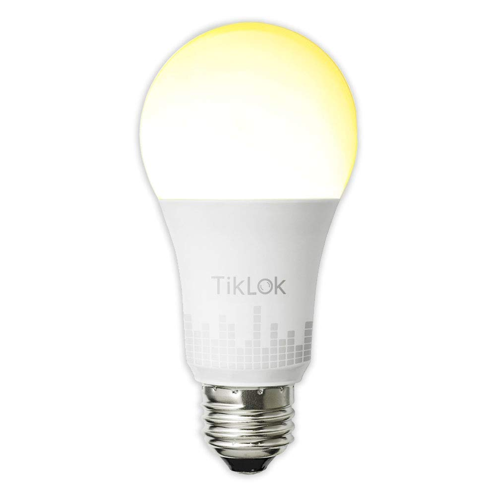 TIKLOK Smart Wi-Fi LED Light Bulb, Soft White to Daylight(2700K-6500K), Tunable, Compatible with Alexa and Google Assistant, No Hub Required