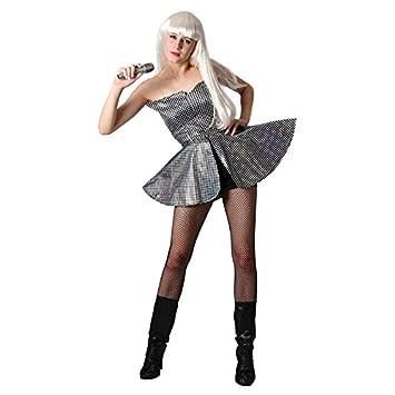 P tit payaso 86408 disfraz adulto Luxe Pop Star - 38 y 42 - Plata ...
