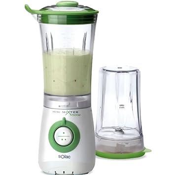 Solac Mini Mixer 350W 2in1, Plástico, Plástico, Blanco, Verde, 220 - Licuadora: Amazon.es: Hogar
