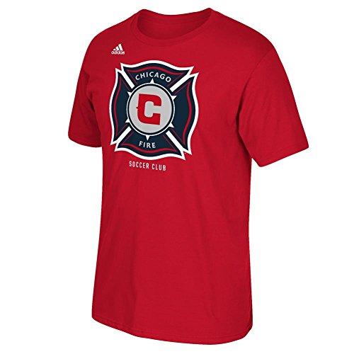 adidas MLS Chicago Fire Men's Logo Set Tee, X-Large, Power Red Trade Soccer T-shirt