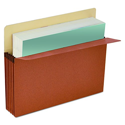 Universal 15343 3 1/2 Inch Expansion File Pockets, Straight Tab, Letter, Redrope/Manila, Box of 25 -
