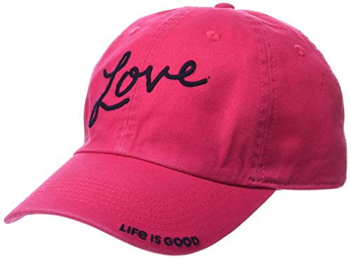 - Life is Good Chill Cap Baseball Hat Collection,Love,Pop Pink