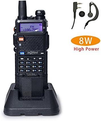 Baofeng UV-5R High Power 8 4 1W 3800mAh Two Way Radio Dual Band Ham Radio Transceiver Black
