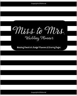 Amazon Fr Miss To Mrs Wedding Planner Wedding Checklists