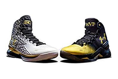 Under Armour Curry BACK 2 BACK MVP Pack (2 pairs) LIMITED EDITION Curry One & Curry Two - 1300015-001 - June 24-25 2016 Release Men's Shoe SIZE (8.5)