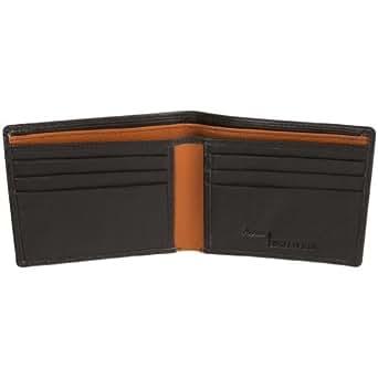 Access Denied Mens Leather RFID Blocking Wallet Bifold (Black & Tan)