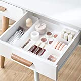 Chris.W Clear Plastic Drawer Organizer Tray for Vanity Cabinet, Set of 5 Storage Tray for Makeup, Kitchen Utensils, Jewelries, Medicine, Pens, and Gadgets