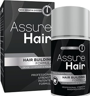Assure Hair – Hair Building Fibers Made of Patented Natural Plant Fibers – Eliminates the Appearance of Baldness and Thinning Hair for Both Men and Women. (Dark Brown)