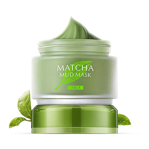 (Organic MATCHA Green Tea Face Mask, Green Tea Matcha Facial Mud Mask, Improves Complexion, Anti-Aging, Detoxifying, Antioxidant, Moisturizer, Anti-Acne)