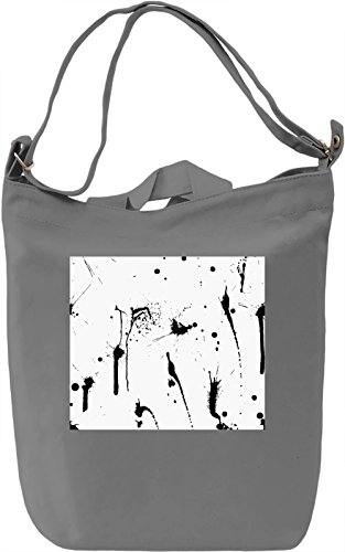 Black and White Pattern Borsa Giornaliera Canvas Canvas Day Bag| 100% Premium Cotton Canvas| DTG Printing|