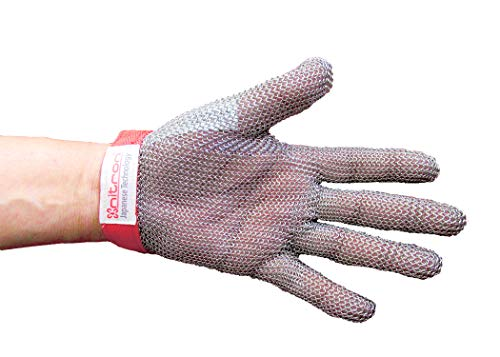 Unisex Chainmail - NITRON: NT-101M: MEDIUM Industrial Grade: Unisex, Ambidextrous, Chain Mail, Safety Glove.
