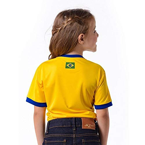 d5a6125f2c Camiseta Cruzeiro Brasil Infantil Amarela
