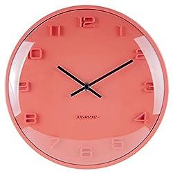 Karlsson Wall Clock, Aluminium, Orange, One Size