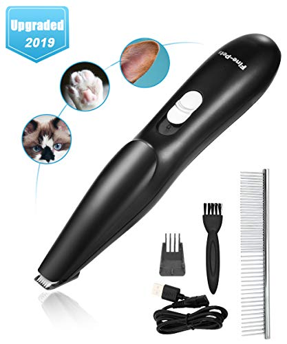 Lovav Dog Clippers,Dog Grooming Clippers Kit for Small Dogs Cats, Professional Dog Clippers Cordless Low Noise Pet Trimmers for Small Dogs Hair Around Face,Paws,Eyes,Ears,Rump (Black)