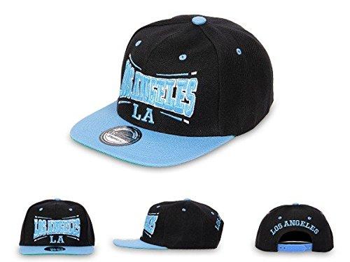 Snapback Basecap Starter Hat Hip Hop Cap Schirmmütze Baseballcap Baseball Mütze Kappe, Farbe wählen:Cap-18 LA schwarz blau